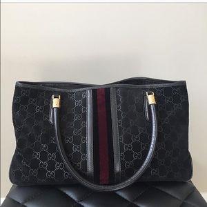 Black Suede Gucci Shoulder Bag